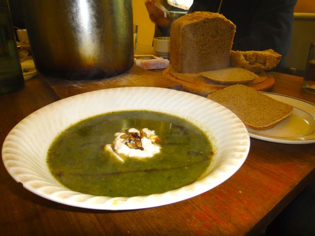 wild nettle and garlic soup